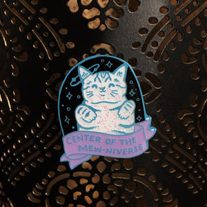 "Center of the Mew-niverse - 1.5"" Soft Enamel Pin"