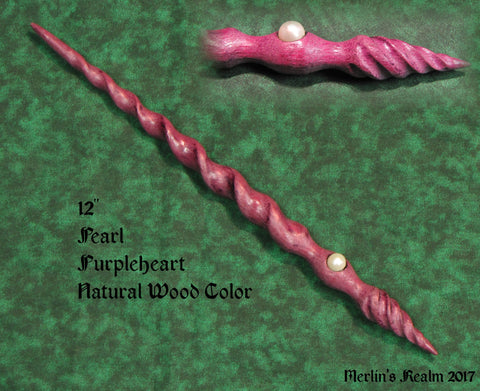 Purpleheart and Pearl Magic Wand