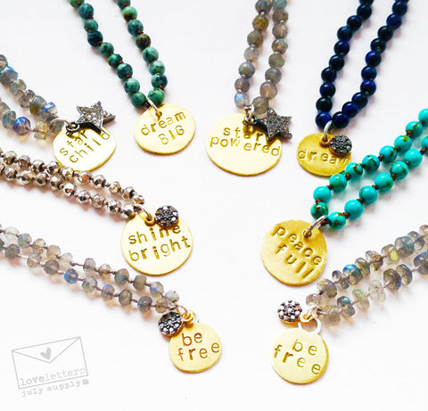 loveletters necklaces