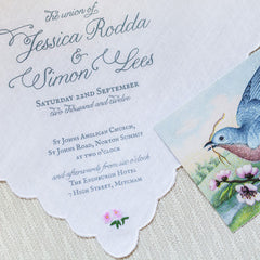 Fabric invitations