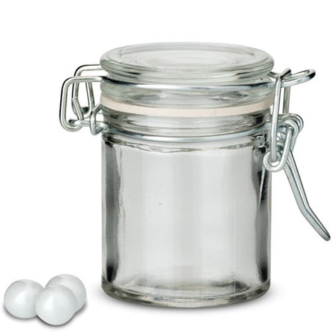 Glass swing-top favour jar (set of 12)