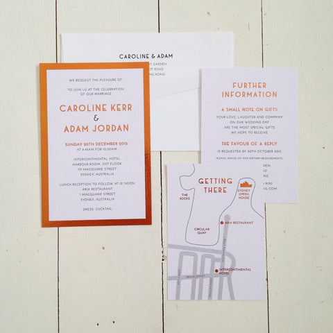 Caroline & Adam invitation