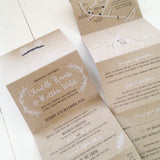 Chantelle & Matthew invitation