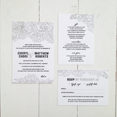 Cheryl & Matt invitation