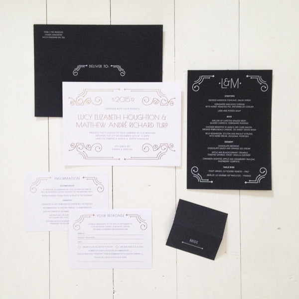 Lucy & Matt invitation
