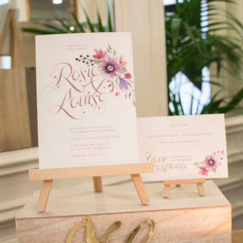 Rosie & Louise invitation