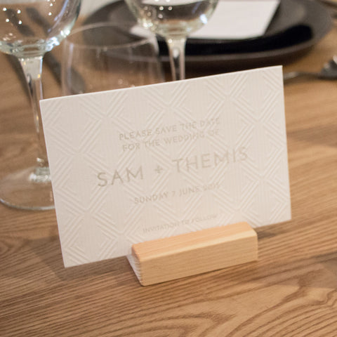 Sam & Themis save the date