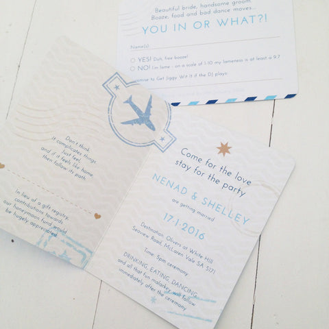 Shelley & Nenad invitation