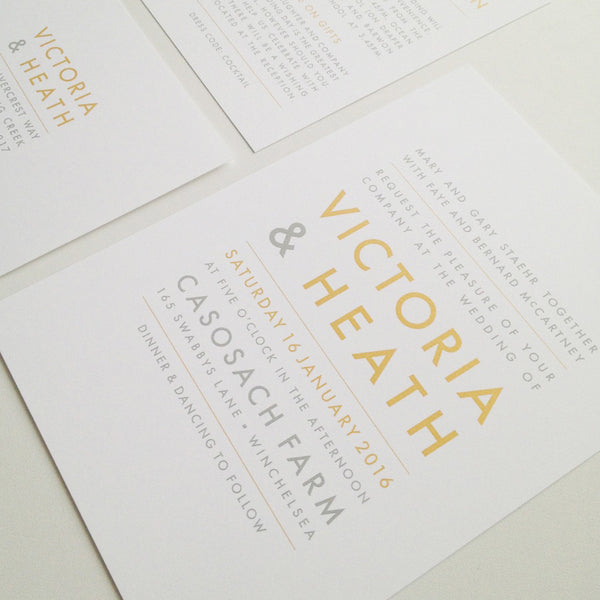 Victoria & Heath invitation