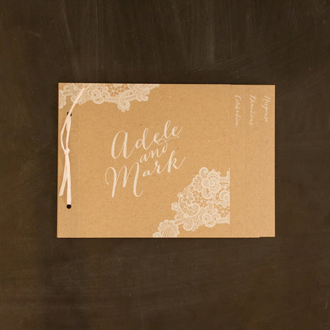 Adele & Mark invitation