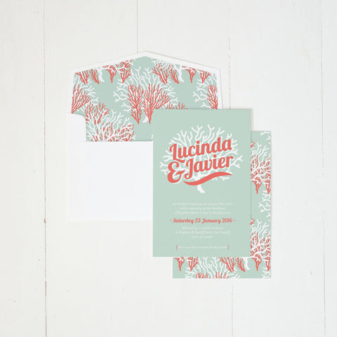 Coral Delight invitation