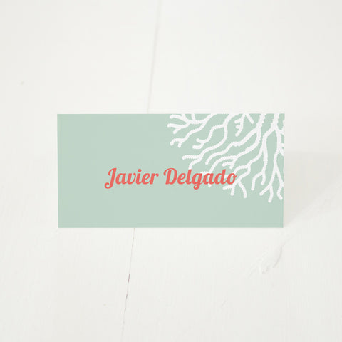 Coral Delight place card