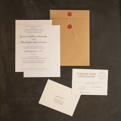 Jeannine & Christopher invitation
