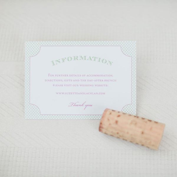 Entwined gift information card