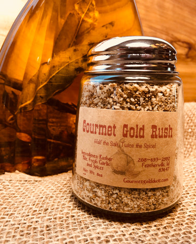 Gourmet Gold Rush, Glass Shaker 8 oz.