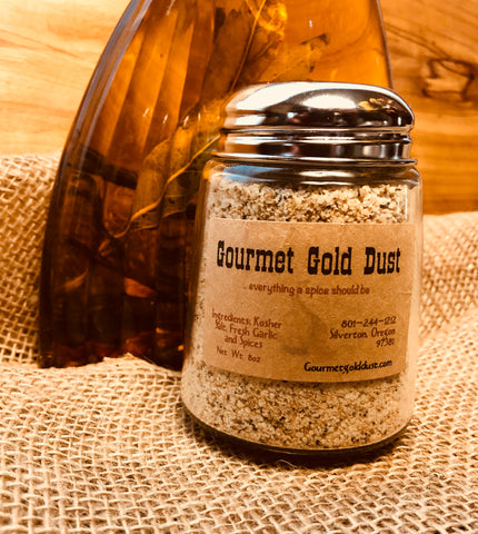 Gourmet Gold Dust Shaker (glass) 8oz