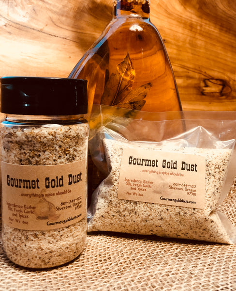 Gourmet Gold Dust 8oz Shaker and 8oz Refill