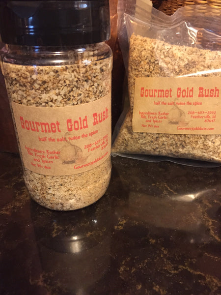 Gourmet Gold Rush 8oz Shaker and 8 oz Refill