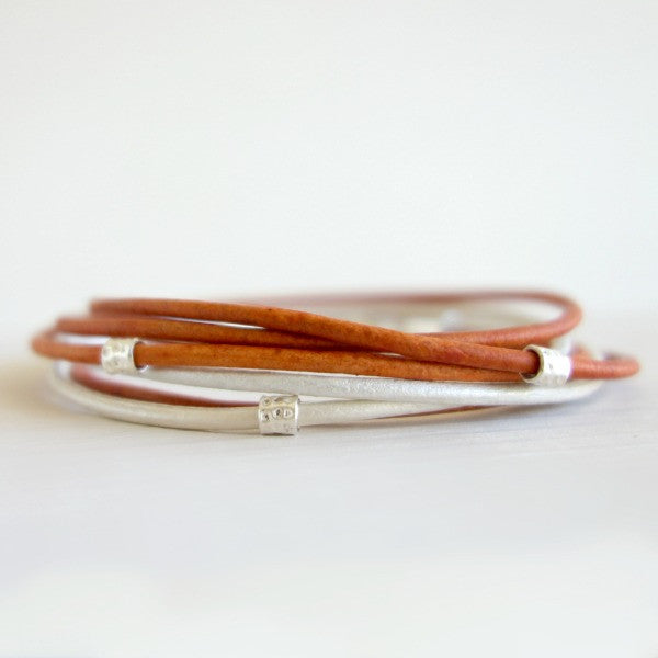 Mini Sundance leather wrap bracelet
