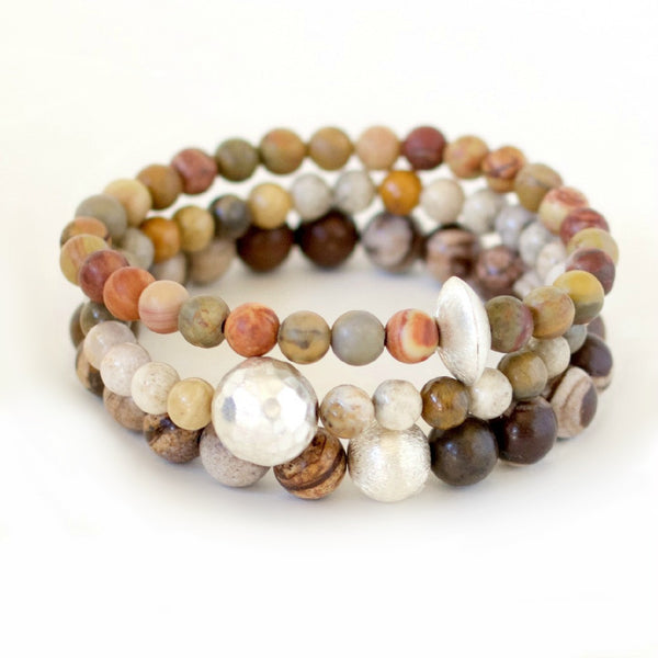 gemstone bracelet stacks holiday gifts