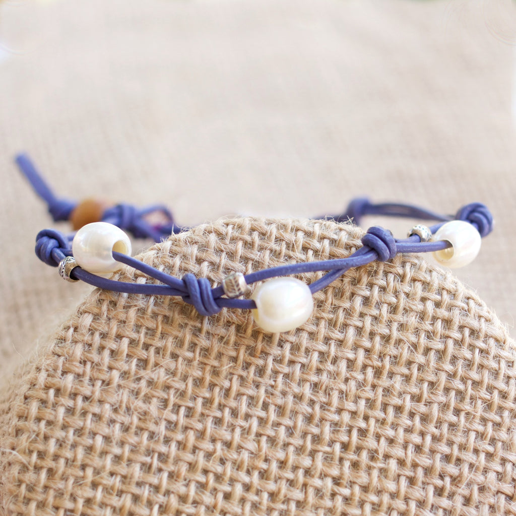 In Bloom Leather Knot Bracelet