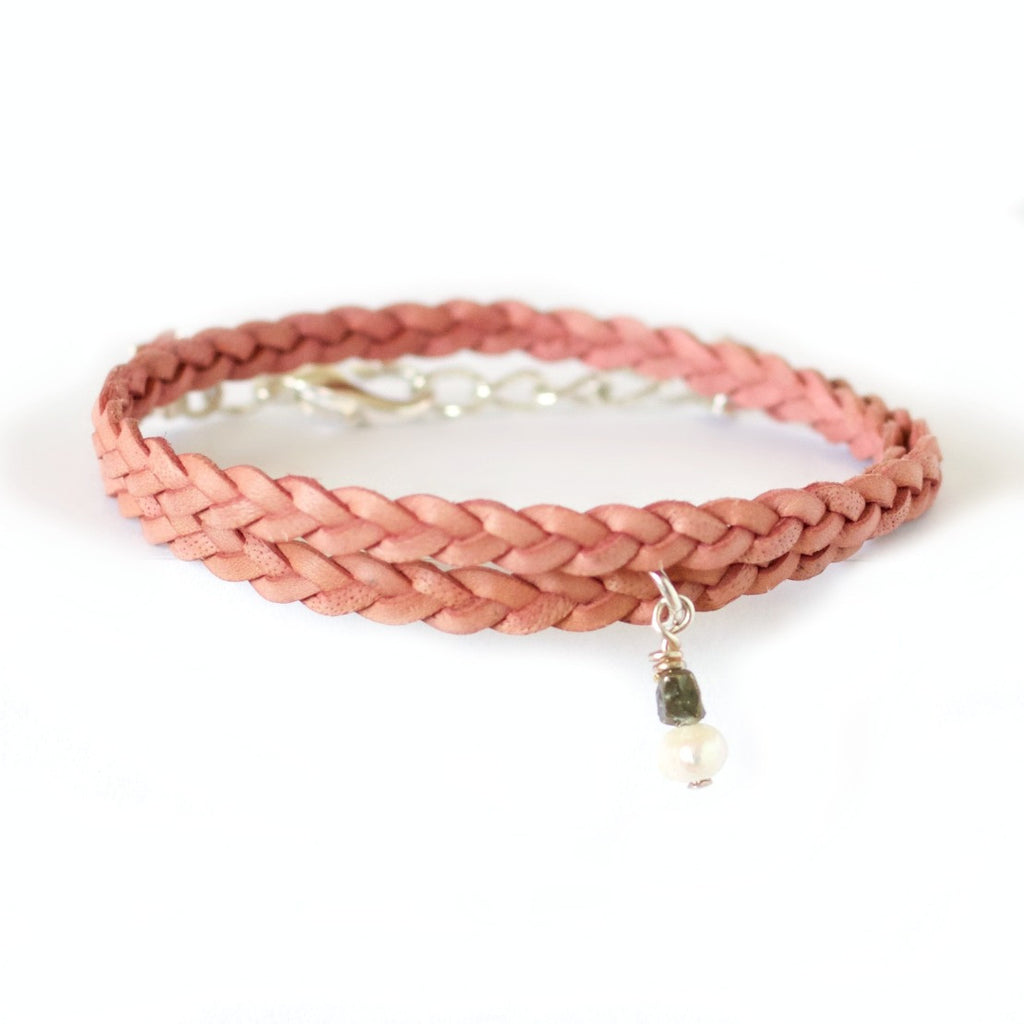 Desert Rose Radiance Choker Necklace~ Braided Leather Choker
