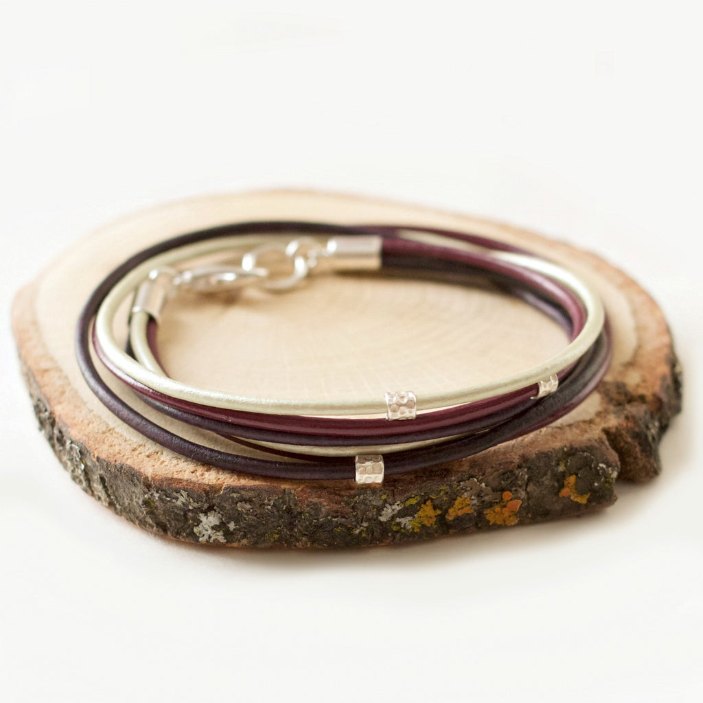 calypte Collection leather wrap bracelet | CalypteCollection.com