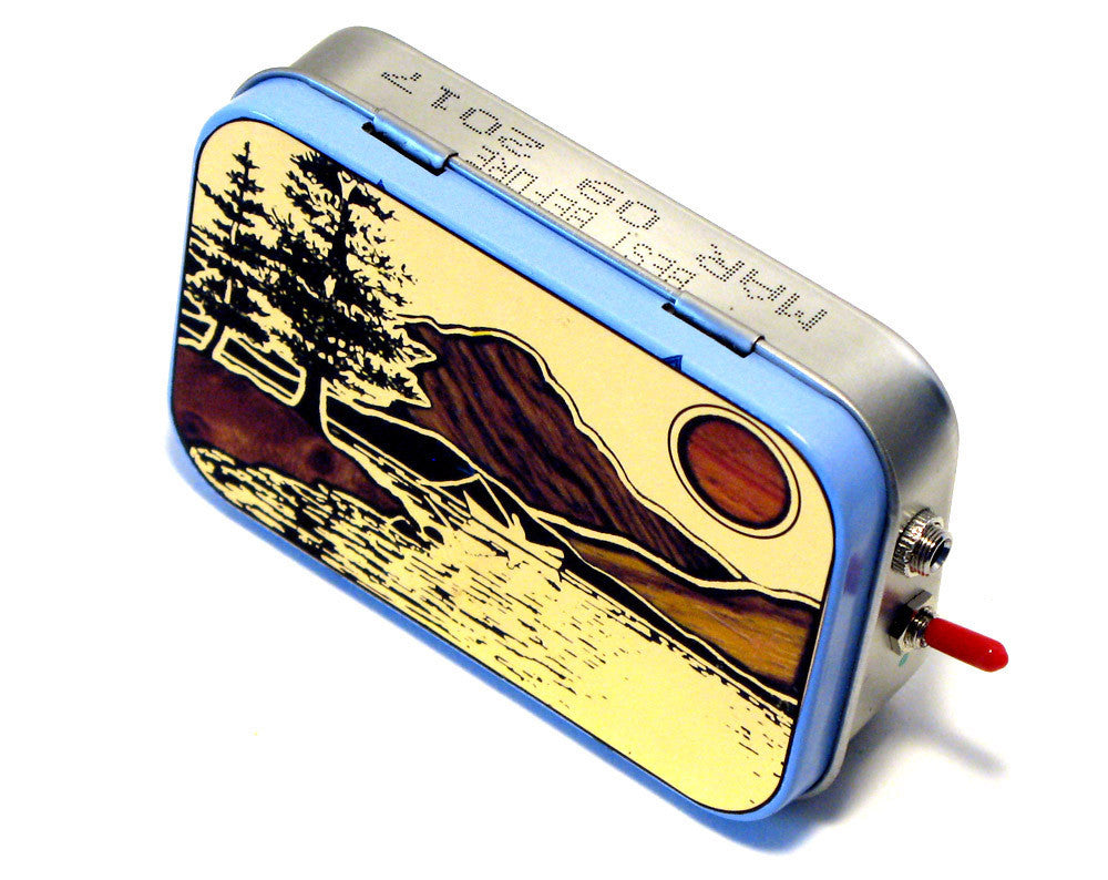 """Gone Fishin"" Mint Tin Pocket Boombox"