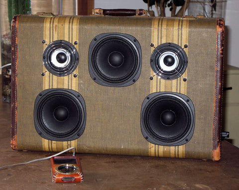 """Oscar the Grouch"" Vintage Suitcase Boombox"