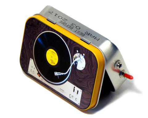"""The Pioneer"" Mint Tin Pocket Boombox"