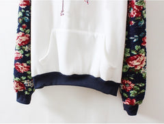 Floral Fleece Hoodie - Marvelous Clothing - 3
