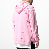 Pink Ripped Hoodie - Marvelous Clothing