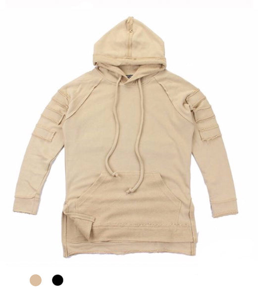 Ripped Longline Hoodie - Marvelous Clothing