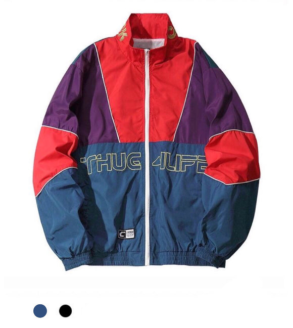 """Thug Life"" Windbreaker Jacket - Marvelous Clothing"