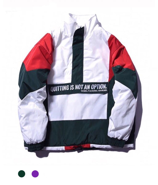 """Quitting Is Not An Option"" Jacket - Marvelous Clothing"