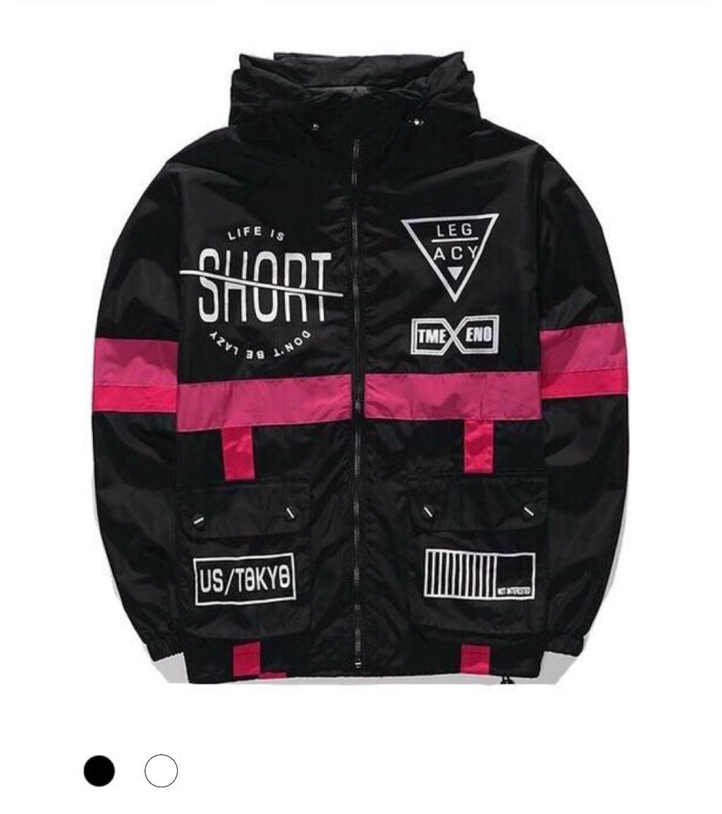 """Life Is Short"" Windbreaker Jacket"