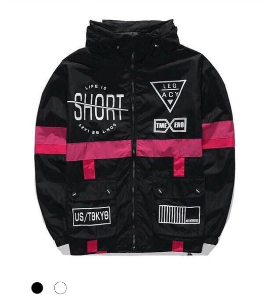 """Life Is Short"" Windbreaker Jacket - Marvelous Clothing"