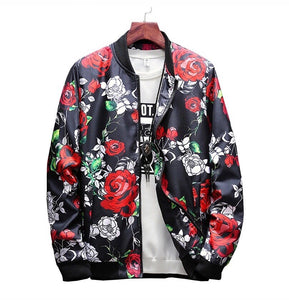 Floral Bomber Jacket - Marvelous Clothing