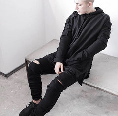 Ripped Longline Hoodies - Marvelous Clothing - 7