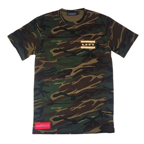 Metallic Gold Camo T-Shirt - Marvelous Clothing