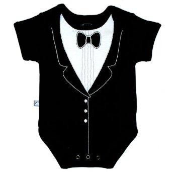 Frenchie Mini Couture Tuxedo Onesie