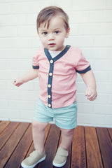 Archie Cardigan Tee and Oscar Shorts