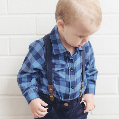 Little Man Suspenders - Navy