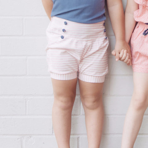 Lucy Shorts - Pink Stripe