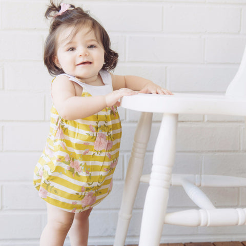 Elka Sofia Playsuit - Yellow Stripe