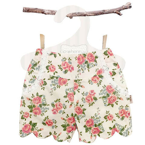 Rose Scalloped Hem Shorts