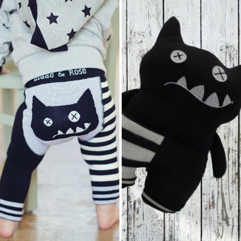 Crazy Cat Leggings & Toy