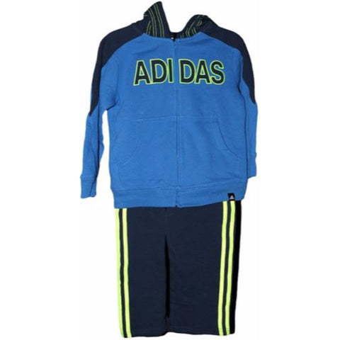 Adidas Iconic Cotton Hoody Tracksuit Set