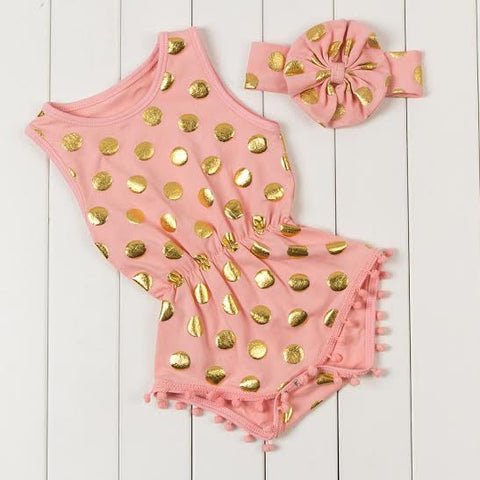 Cotton Candy Playsuit Peach
