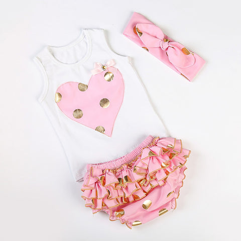 Cotton Candy Love Heart  Set Pink